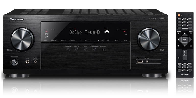 PIONEER VSX-832-B VSX-832 80W 5.1CHANNELS SURROUND 3D BLACK AV RECEIVER